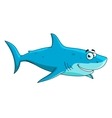 Swimming big shark cartoon character vector image vector image