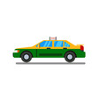 thai taxi flat design with isolated white vector image vector image