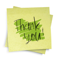 thank you note vector image vector image