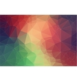 Triangle 2D geometric colorful background vector image vector image