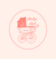 vintage baby carriage vector image