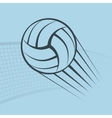 Volleyball play background vector image vector image