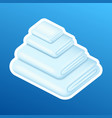 washing sticker pile stack white clean vector image