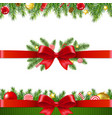 xmas garland set white background vector image vector image