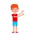young boy sent air kiss vector image