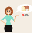 young woman and pretty girl house icon vector image
