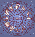 zodiac horoscope signs with dates icons on vector image vector image
