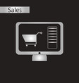 black and white style icon online buying vector image