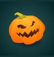 gradient element pumpkin face for halloween vector image