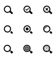 search icons set vector image