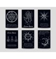 Alchemy and isoteric cards set vector image