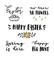 happy easter lettering set hand written quotes vector image