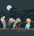 zombies attacking a man vector image
