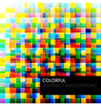 abstract colorful background from square parts vector image vector image