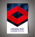 abstract report cover15 vector image vector image