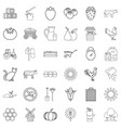 agricultural icons set outline style vector image vector image