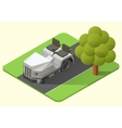 airport baggage truck vector image vector image
