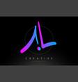 al artistic brush letter logo handwritten vector image vector image