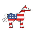 american horse vector image