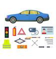 auto transport motorist equipment vector image