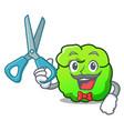 barber shrub character cartoon style vector image