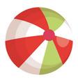 beach balloon plastic icon vector image vector image