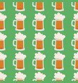 beer glass seamless pattern celebration vector image vector image