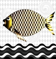 big golden fish vector image