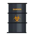 biohazard black barrel icon flat style vector image