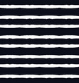 black stripped horizontal pattern vector image vector image