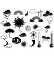 black weather icon vector image vector image