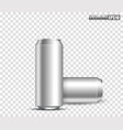 blank metallic cans for design uses vector image vector image