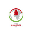 blood donation logo a drop blood vector image