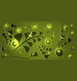 botanical pattern of marsh plant elements on a vector image