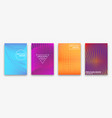 brochure design with halftone dots and neon vector image vector image