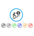business steps rounded icon vector image vector image
