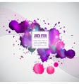 Business template with violet watercolor blots