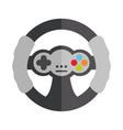 cartoon steering wheel control video game toy vector image