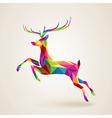 Christmas deer multicolor origami vector image vector image