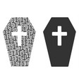 coffin mosaic of binary digits vector image vector image