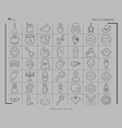 collection of 49 halloween icons in thin line vector image vector image