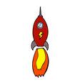 comic cartoon rocket vector image vector image