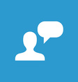 conversation icon white on the blue background vector image