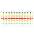 diamond shape halftone spectrum grid vector image vector image