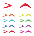Different colors boomerangs vector image