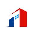 door building house company logo vector image vector image