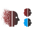 dust pixel halftone dual face icon vector image vector image