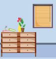 empty living room vector image