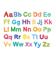 english alphabets vector image