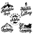 explore and hiking hand drawn motivation vector image